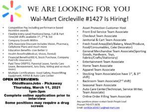 Walmart Hiring Event @ OhioMeansJobs - Circleville, Ohio